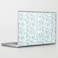 renaissance Laptop & iPad Skins featuring Renaissance Celadon by Antique Images