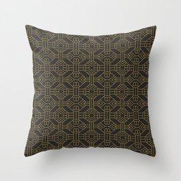 Art Deco Golden Geo Simetry Throw Pillow