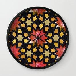 Rosebud Pussy Pattern Wall Clock