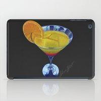 martini iPad Cases featuring Sunset Martini by Shawn Stomp