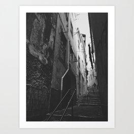 A narrow path Art Print