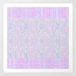 Zigity Zagaty Stripes Art Print