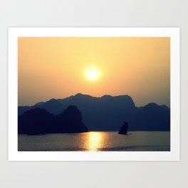 Halong Bay Sunset Art Print