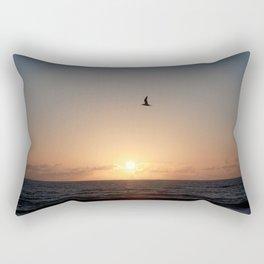flight over ocean sunrise Rectangular Pillow
