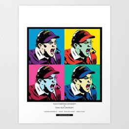 Art Gecko - TCU vs TTU 11/18/17 Art Print