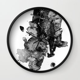 Watercolor constellations IV Wall Clock