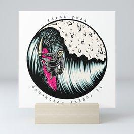 Grim Surfer First Peak Mini Art Print