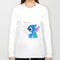 ohana Long Sleeve T-shirts featuring Ohana by nafrodrigues