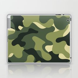 Camouflage Camo Green Tan Pattern Laptop & iPad Skin