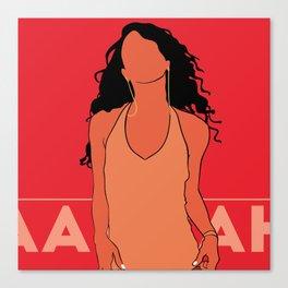 Aaliyah Poster.Print Canvas Print