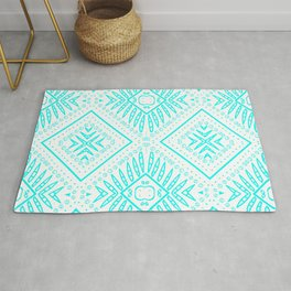 African culture batik pattern Blue and white. Rug