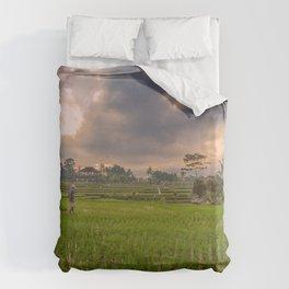 Bali rice field Duvet Cover