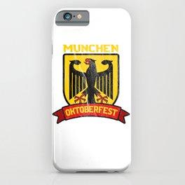 Munchen Oktoberfest Vintage German Beer Lovers Festival Gift iPhone Case