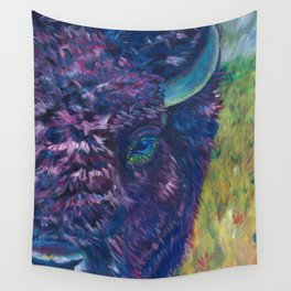 A Technicolor Bison Wall Tapestry
