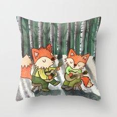 Fox Duo Throw Pillow