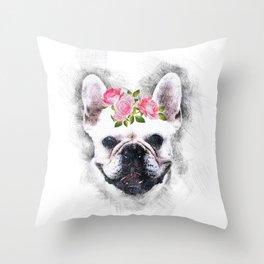 Frenchie Bulldog Throw Pillow