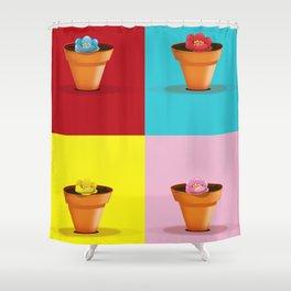 Four Pots Shower Curtain
