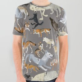 Wolves of the world 1 All Over Graphic Tee