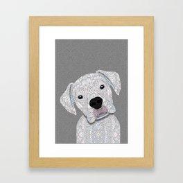 Cute White Boxer Framed Art Print