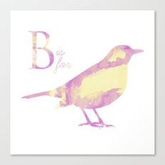 B is for Bird; Canvas Print