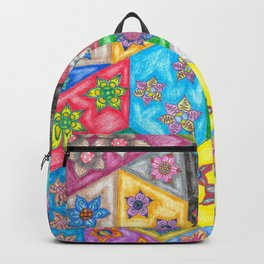 Stained Glass Flowers Backpack