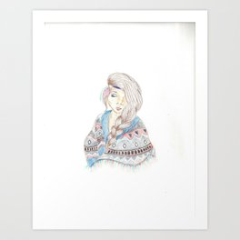 Tribal Braids Art Print