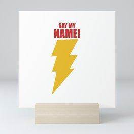 Shazam (Say My Name!) DC Comics Fan Art Mini Art Print