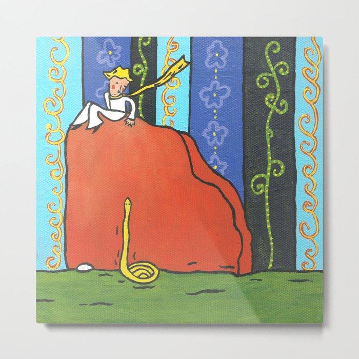 The Little Prince and Snake Metal Print