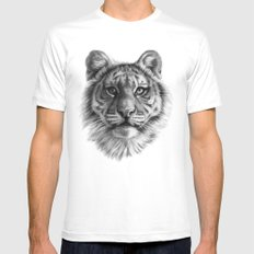 Tiger Cub SK106 White MEDIUM Mens Fitted Tee