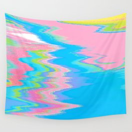 Neon Spill Abstract Wall Tapestry