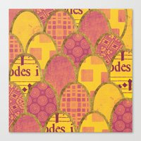scales Canvas Prints featuring Scales by Sweet Colors Gallery