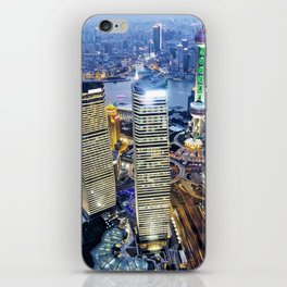 Shanghai By Night iPhone Skin