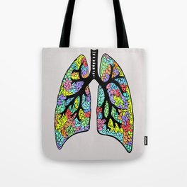 Psychedelic Lungs  Tote Bag