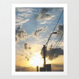 Find me, Summer Sun Art Print