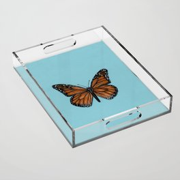 Monarch Butterfly Painting Acrylic Tray