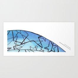 Energy Star Texture Art Print
