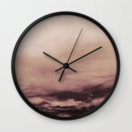 PINK & GOLD & BLACK TOUCHING #1 #abstract #decor #art #society6 Wall Clock