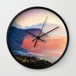 Sunrise Grandeur #society6 #decor #buyart Wall Clock