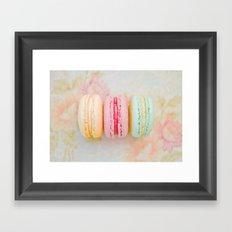 Happy Macarons Framed Art Print