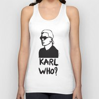 karl Tank Tops featuring Karl who? by Muneera B