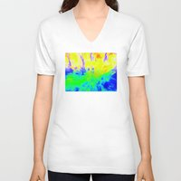 hippy V-neck T-shirts featuring The Hippy Shake by Tanella