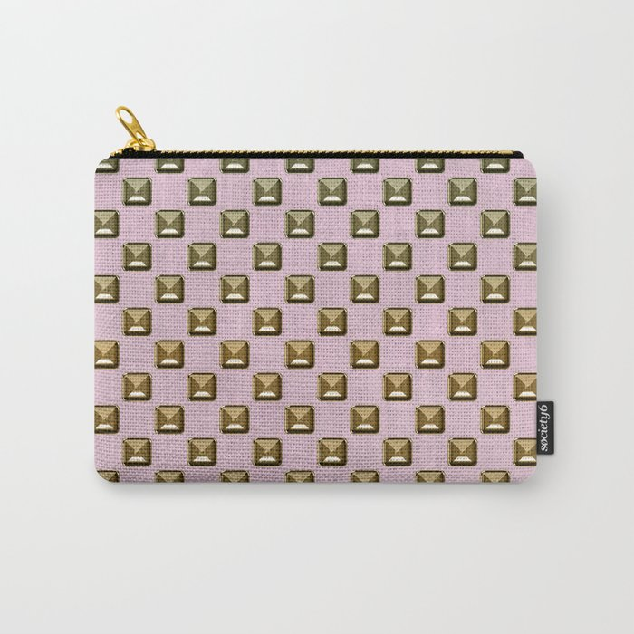 Rose quartz Elegance metal pattern Carry-All Pouch