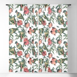 Pomegranate and Lovebirds Blackout Curtain
