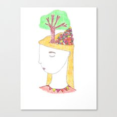 City in her head Canvas Print