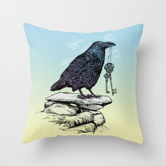 Raven's Keys Throw Pillow