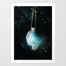 birth of the light Art Print