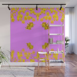 DECORATIVE MODERN PINK-DAFFODILS ART FLORAL Wall Mural