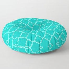 Turquoise Moroccan Quatrefoil Floor Pillow