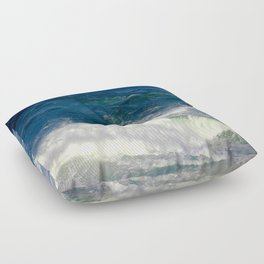 Crashing Down and Up Floor Pillow