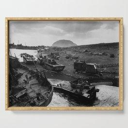 Iwo Jima Beach Destruction Serving Tray